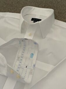 GORGEOUS TED BAKER WHITE SHIRT WITH INNER CUFF DETAIL 16