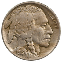 1913-D Type 2 Buffalo Nickel - Nice Extra Fine Condition, First Year Issue