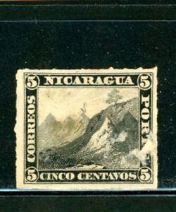 Nicaragua Scott # 5 - MH_NG - Imperf. - Paper on Back