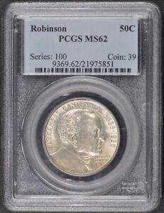ROBINSON 1936 50C Silver Commemorative PCGS MS62