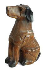 More details for wooden great dane dog ornament figure 16