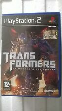PS2 SONY PLAYSTATION 2 PAL TRANSFORMERS LA VENDETTA DEL CADUTO LOOK PHOTO