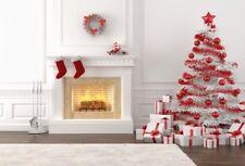 Vinyl Photography Backdrops White Christmas Tree Fireplace Background For Studio