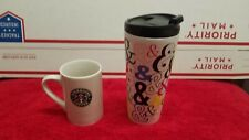 Starbucks 2017 Ampersand AND & Stainless steel tumbler , & 2008 12oz Coffee Cup