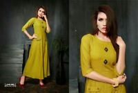Indian Bollywood Designer indo western gown Kurta Kurti women ethnic dress -ae02