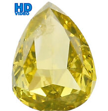 Natural Loose Diamond Pear SI2 Clarity Greenish Yellow Color 0.40 Ct L4939