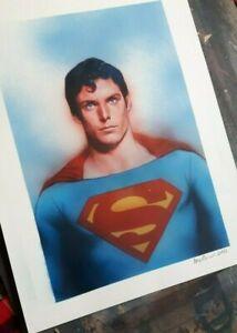 Superman (Christopher Reeve) original art by DC Comics artist Ben Oliver