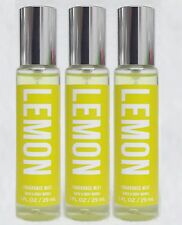 3 Bath & Body Works Lemon Fragrance Mist Spray 1 fl oz Rare Htf