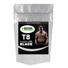 HARDCORE BLACK SUPPLEMENT ANABOLIC MUSCLE MASS WEIGHT SIZE GAIN STRENGTH PILLS