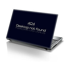 "TaylorHe 15.6"" Laptop Vinyl Skin Sticker Decal Funny 404 Error Message 2210"