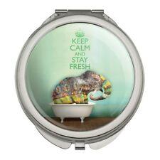 Elephant Keep Calm and Stay Fresh Bathtub Compact Purse Handbag Makeup Mirror