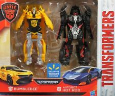 TRANSFORMERS AUTOBOT HOT ROD & BUMBLEBEE Exclusive Turbo Change Last Knight NEW