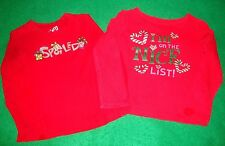 "JUMPING/BEANS/on/the/nice/list/CHILDREN'S/PLACE/spoiled/XMAS/TOPS! (4T) ""euc"" @@"