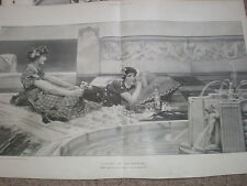 Love in Idleness from Sir Lawrence Alma-Tadema 1901 old print my ref T