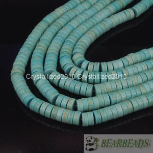 """Blue Howlite Turquoise Gemstone Heishi Spacer Beads 2mm 3mm 4mm 6mm 8mm 10mm 16"""""""