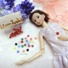 Doll Bjd Dress Making DIY Materials Tools Tiny Button Circular 5mm S Red