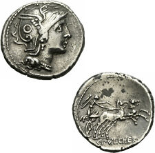 Claudius Pulcher denar Roma 110/109 Roma Victoria istrier ligurier Albert 1091