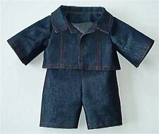 NAVY DENIM JACKET & JEANS - FITS TEDDY BEARS 16 INCH/ 40cm TALL– MADE IN ENGLAND