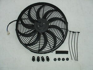 "24V 12"" Slim Radiator Cooling Thermo Fan&Mounting kit"
