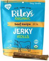 Riley's Organic Dog Jerky Treats Beef Dog Training Treats Made in USA