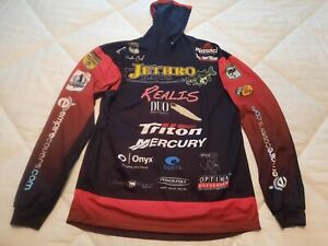 Valley Fashions Bass Tournament Fishing Jersey Hooded Shirt * Never Worn