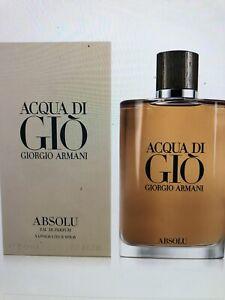 New NIB SEALED Men's Acqua Di Gio ABSOLU By Giorgio Armani EDP Cologne 6.7 Oz