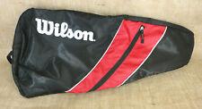 "WILSON Tennis Racquet Racket Bag with Shoulder Strap Holds 2 Rackets 28""x12""x3"""