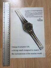 Omega Seamaster Quartz 1982 Advertisement Pub Ad Werbung