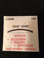 Scarce NOS Accutron, Bulova, Caravelle Snap Dome Crystal, 18.0 MM, 1484