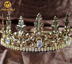 "Medieval Crown /""Trefoil/""; Brass Crown; Circlet; Women/'s Tiara"