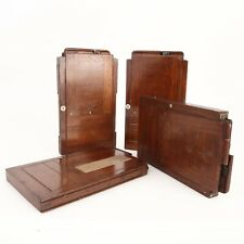 * Vintage Unbranded 3.5x5.5 Wooden Foldable Numbered Film Holders - (Lot of 4)