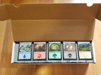 1,000+ Basic Land lot(200 of each)Magic:The Gathering MTG Instant Collection!!!!