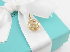 New Tiffany & Co Picasso 18K Yellow Gold Zellige Charm Pendant Box Included