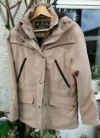 Barbour Fulbourn Ladies Parka Coat fleece-lined sand coloured. 10. Perfect.