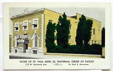 Home of St. Paul Aerie 33, Fraternal Order of Eagles Minnesota Postcard G45
