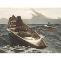 Winslow Homer The Fog Warning Large Canvas Art Print