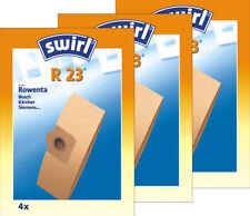 3 Original SWIRL R 23 / 12 Staubsaugerbeutel / Rowenta, Bosch, Kärcher, Siemens