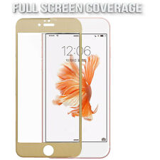 For iPhone 6 6S Carbon Fiber 3D Full Curved Screen Protector Tempered Glass Gold