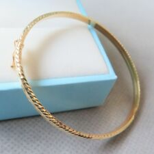 New Craft Real 18k Yellow Gold Bracelet Great Carved Design Bangle 3.5g 55x3mm