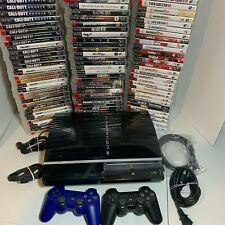 Sony PlayStation 3 PS3 Original Fat Console Controllers Video Games Bundle