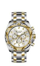 New Mens Invicta 34126 Bolt Quartz Chronograph Silver Dial 50mm  Watch