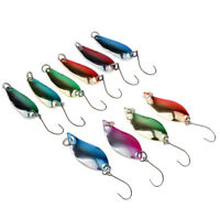 10pcs Metal Spoon Fishing Lure Pike Trout Popper Spinner Hard Jig Bait