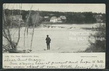 IA Estherville LITHO 1907 THE DAM on WEST DES MOINES RIVER Pearson-Ullberg 1464