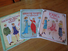 Usborne - Historical Sticker Dolly Dressing - 3 books, 1920's & Country Estate