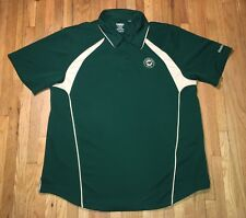 Minnesota Wild Hockey Polo Shirt Jersey Button Extra Large XL Reebok Coach Patch