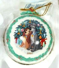 Walt Disney Classic Collection WDCC Lady And The Tramp Ornament 2001 COA NIB