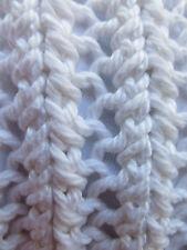 White Mesh Organic Cotton TurtleneckJumper/UK10-16/Handknitted, British
