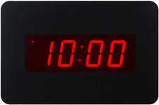 ChaoRong Digital LED Alarm Clock Wall Clock for Bedrooms Operated by Battery