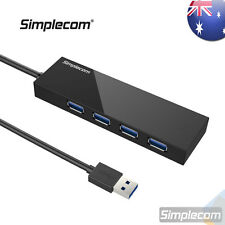 Simplecom 4 Port USB 3.0 HUB External Portable Built-in 0.5M Cable For PC Laptop