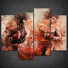 ROCKY VS DRAGO FIGHT ICONIC FILM CASCADE CANVAS PRINT WALL ART READY HANG